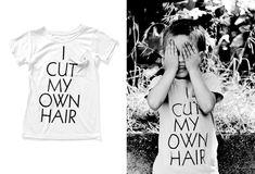 mini and maximus | i cut my own hair t-shirt (via http://pinterest.com/pin/138415388518324750/)