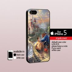 Disney Beauty and The Beast Art  - Print Hard Cover For iPhone 5