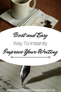 How To Instantly Improve Your Writing: The ability to effectively convey your message and tell your story through the written word is one of the unique skills you can develop, but the words themselves give you 'firepower' if you will. Rock Revolution, Script Writing, Your Message, Things To Think About, Improve Yourself, Irish, Ms, Told You So, Messages