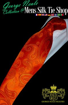 high end orange neckties. upscale orange ties
