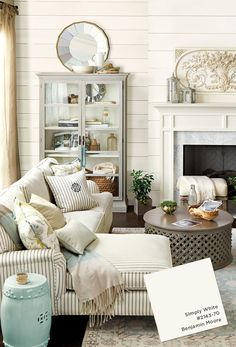 Paint colors from Ballard Designs Spring 2015 catalog Benjamin Moore Simply White