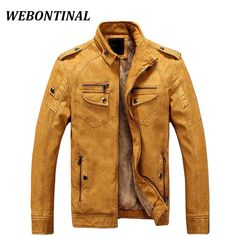 efd9fb0271f1 WEBONTINAL PU Faux Casual Men Jackets Leather Male Coats Winter Velvet  Hombre Motorcycle Outerwear. Hiver HommesVeste Cuir HommeManteau ...
