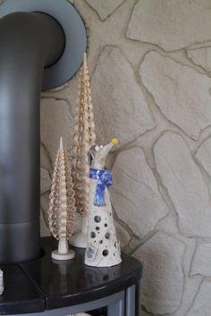 Gartenfiguren - Beetkieker LichtelWichtel Schal blau - ein Designerstück von ThoLiKo bei DaWanda