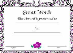 Free Printable Award Certificate Template  Free Printable Award