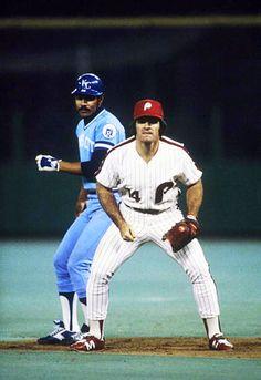 Amos Otis & Pete Rose. 1980 World Series.