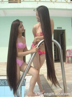 Hair black beautiful long