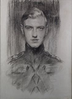 A Charcoal drawing of Robert Gould Shaw III by John Singer Sargent