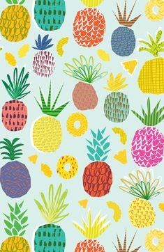15 Ideas fruit print pattern design for 2019 Trendy Wallpaper, Cute Wallpapers, Marco Polaroid, Pineapple Wallpaper, Boite A Lunch, Whatsapp Wallpaper, Fruit Pattern, Pineapple Pattern, Fruit Print