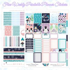 Planner Onelove: Free Winter Love Printable Planner Spread For The Erin Condren & Recollections Planner Free Planner, Planner Pages, Happy Planner, Planner Ideas, Printable Planner Stickers, Free Printables, Calendar Stickers, Winter Love, Planner Organization