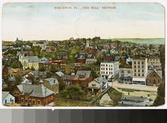 Hill section, Scranton, Pennsylvania, circa 1907-1911. From the National Trust Library Historic Postcard Collection