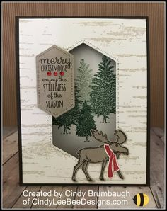 Silver Christmas Decorations, Stampin Up Christmas, Christmas Cards To Make, Xmas Cards, Holiday Cards, Christmas Favors, Christmas Treats, Christmas Moose, Merry Christmas