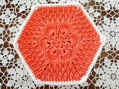 Crochet Tutorial: Hexagon Flower - maomao - I heart action