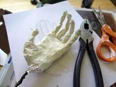 Poseable Hand Armature for Paper Mache Clay