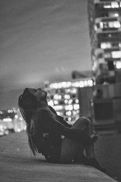 Girl, city, and black and white image Sad Girl Photography, Emotional Photography, Dark Photography, Black And White Photography, Portrait Photography, Photography Lighting, Street Photography, Landscape Photography, Fashion Photography