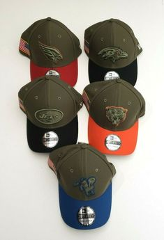 wholesale dealer a53bd 244fb New Era 39Thirty NFL Salute to Service Flex Fitted Hat Army Green Various  Sizes   eBay