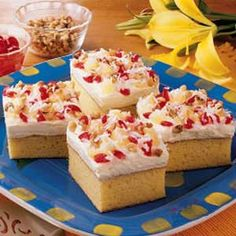 Hawaiian Cake, use pineapple juice in place of water as directed on box mix