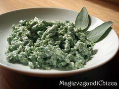 Spatzle senza uova Spatzle, Vegan Foods, Vegan Recipes, Cooking With Kids, Eggs, Pasta, Ethnic Recipes, German, Milk