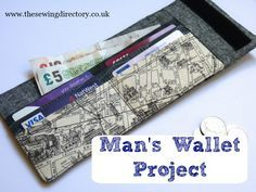 Wallet sewing project using a fat quarter of fabric