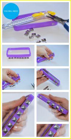 DIY Stud Cellphone Case
