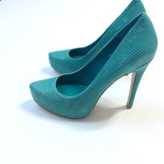 BCBGeneration Teal Blue Pumps