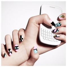 Geometric nail look using THE NEW BLACK The Digital Underground by Madeline Poole in Shibuya