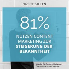 Wofür nutzten Sie Ihren Blog, Newsletter, Social Media, Podcast und/oder Video Kanal?  81% der Unternehmen möchten beispielsweise ihre Bekanntheit steigern. Auf Platz zwei rangiert mit 69% das Ziel, neue Kunden zu gewinnen. Platz drei belegt mit 66% die Kundenbindung.  #contentmarketing #marketing #content #strategie #statistik