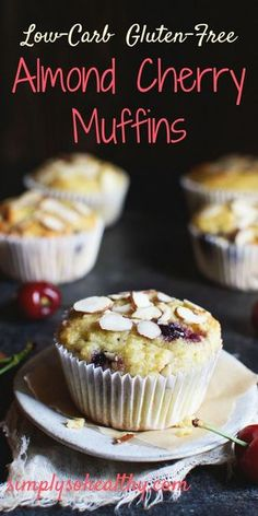 This recipe for Low-Carb Almond Cherry Muffins boasts awesome cherry flavor, but without the carbs. This recipe is suitable for low-carb, ketogenic, Atkins, LC/HF, gluten-free, grain-free and Banting diets.