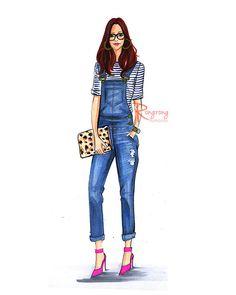 Fashion illustration sketchFashion by RongrongIllustration on Etsy