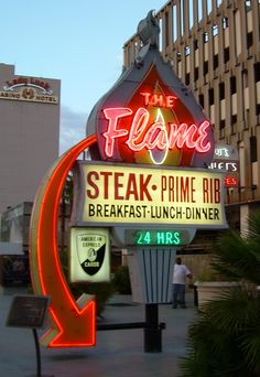 The Flame....Las Vegas, Nevada.  Plan to have dinner here!  Can't wait for that delicious filet!!