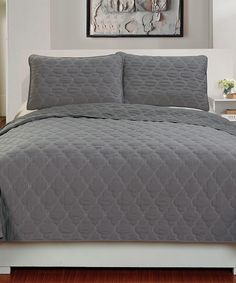 Love this Gray Three-Piece Quilt Set by Duck River Textile on #zulily! #zulilyfinds