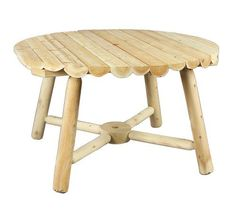 Cedarlooks 020013A Log Round Umbrella Table, 48-Inch - http://rustic-touch.com/cedarlooks-020013a-log-round-umbrella-table-48-inch/