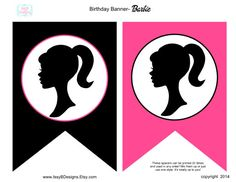 Barbie Birthday Banner-Barbie Party-DIY-Party par IssyBDesigns