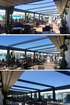 Our Gennius A4, the elegant, flexible and modular pergola, has been installed at the Plage Beau Rivage Nice, a little jewel in the french riviera.   #outdoor #design #madeinitaly
