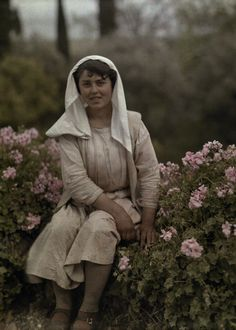 Enjoy these beautiful, rare images of Greece in color, captured from the camera of Maynard Owen Williams. Williams was a National Geographic Greece Pictures, Old Pictures, Rare Images, Girl Standing, World Images, Historical Images, Female Poses, National Geographic, Color Photography
