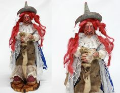 OOAK WITCH DOLL with stick baba yaga doll by LalkowniaDolls
