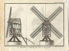 Stampa antica MULINO A VENTO MOULIN MILL 1780 Old antique print | eBay