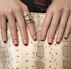 oxblood french manicure.