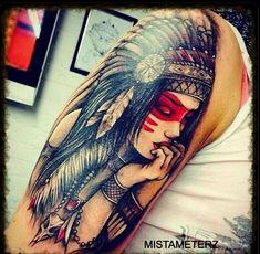 howling wolf wearing an indian headdress tattoo - Google Search
