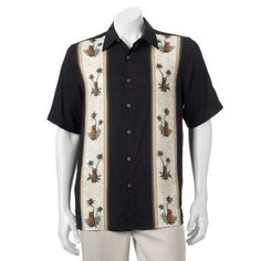 Men's Batik Bay Tropical Casual Button-Down Shirt $31.99