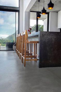 cement flooring Cemcretes CreteCote cement floor application by CEMTECH Concrete Wood, Concrete Floors, Floor Design, House Design, Cement House, Polished Cement, Interior Architecture, Interior Design, Cabana