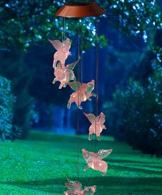 Loving this When Pigs Fly Solar Mobile on #zulily! #zulilyfinds