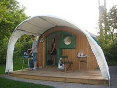 A Curved Tent.