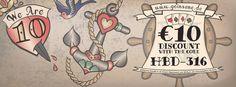 """Wir haben 10. Geburtstag!! So lange ist es schon her, dass wir zum ersten Mal online gegangen sind """"heart""""-Emoticon  Feiert mit uns... Wir schenken Euch 10 Euro auf den Einkauf in unserem Online-Shop auf www.goinsane.de    Einfach den folgenden Gutscheincode eingeben: HBD-316  Gültig 1x pro Kunde ab einem Warenwert von 50 Euro, bis einschließlich 30.03.16"""