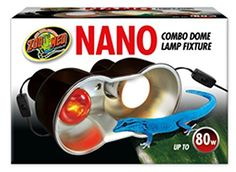 For use only with Zoo Med Nano Heating and lighting products. Lamps not included. Ideal for small geckos hatchling reptiles amphibians tarantulas insects and other invertebrates. Small dome fixtur...
