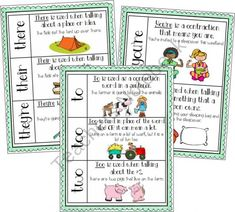 Common Homophone Anchor Charts product from Barnard-Island on TeachersNotebook.com