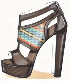 SHOE ILLUSTRATION :: Sketch by Lisa Bozzato