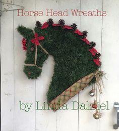 Horse Head Wreaths by Linda Dalziel on Facebook