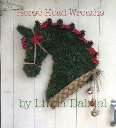 Horse Head Wreaths by Linda Dalziel on Facebook