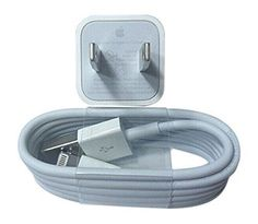 Apple OEM Wall Charger for iPhone 6s/6/6plus/ 5/5c/5s/ USB to Lightning Cable Plus USB Data Cable