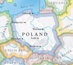 Poland has a well-developed mobile communications market. GSM networks cover all the country and Internet can be found almost everywhere too. Poland Map, Poland Food, Poland Germany, Poland Travel, Human Growth And Development, Poland History, Polish Language, Polish Recipes, Krakow